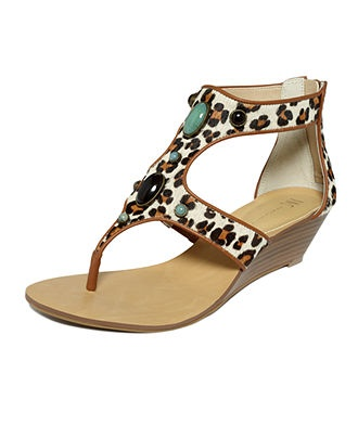 INC International Concepts Shoes, Malorie Wedge Thong Sandals