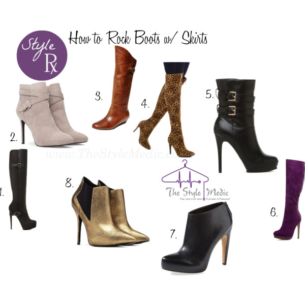 How to wear Boots with Skirts