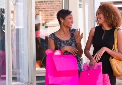 black-women-shopping