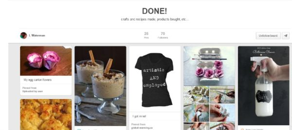L. Marie Pinterest Done Board
