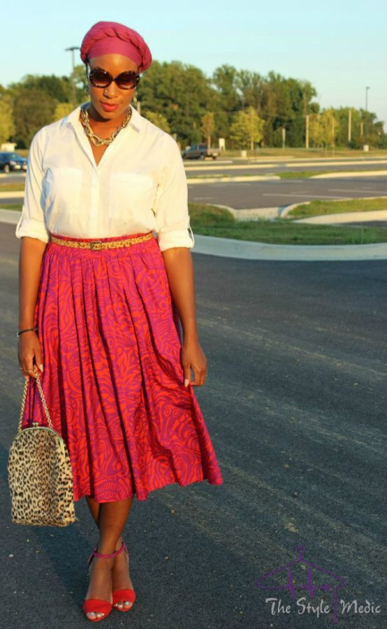 Printed Skirt Look