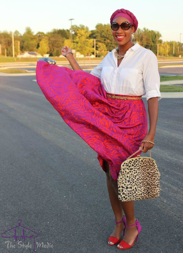 Printed Skirt Look 3