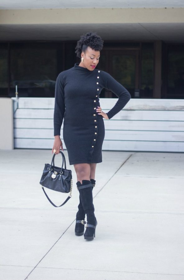 Black Sweater Dress | The Style Medic