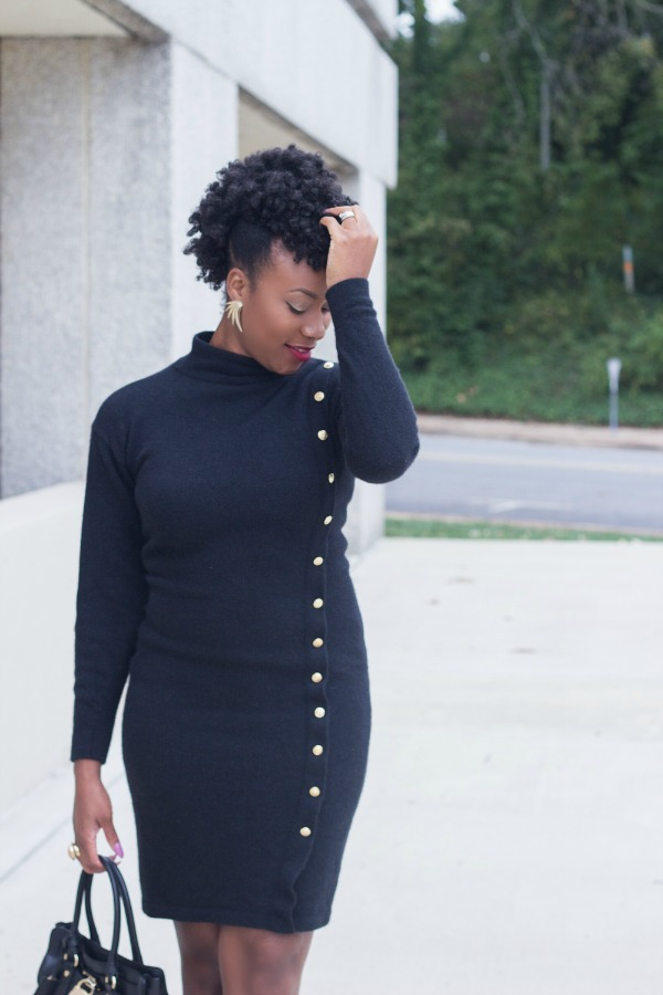 Black Sweater Dress3 | The Style Medic