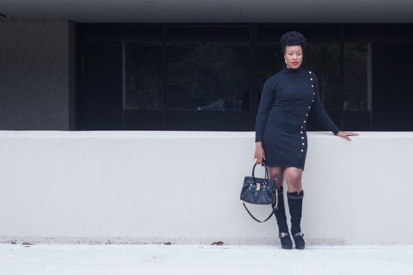 Black Sweater Dress4 | The Style Medic