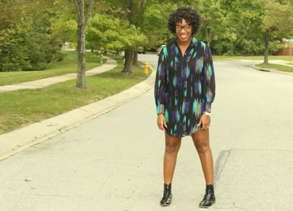 Printed Shirt Dress2| The Style Medic