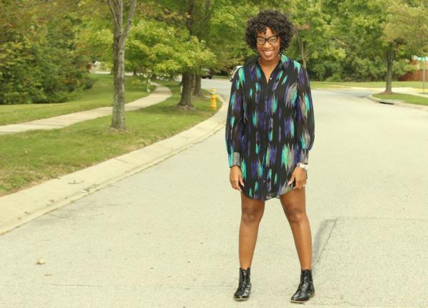 Printed Shirt Dress2| The Style Medic