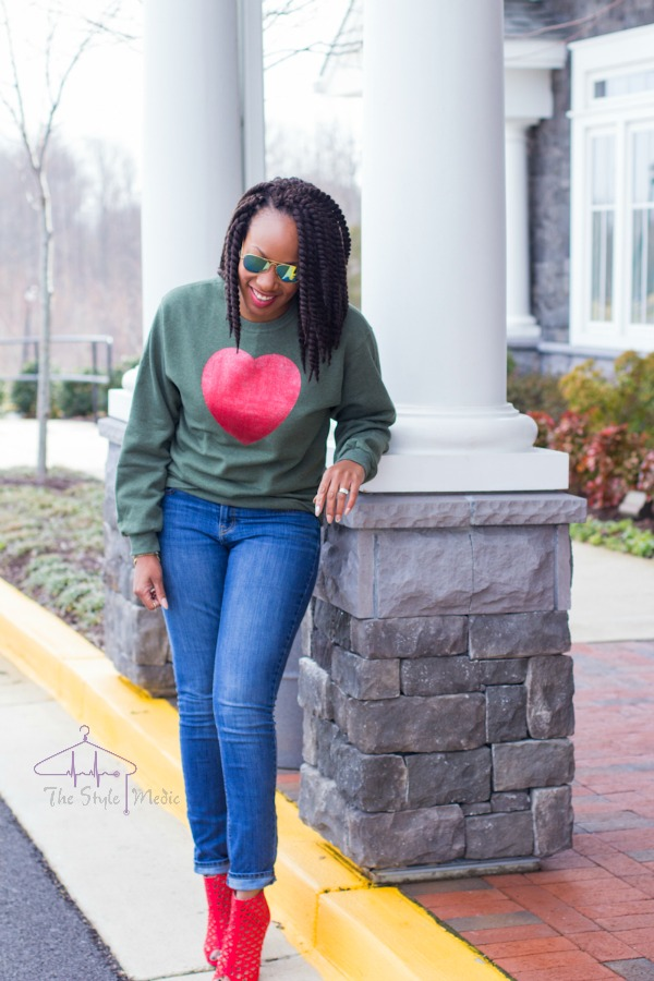 DIY Heart Shirt | The Style Medic