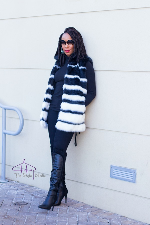 OOTD Faux Fur Vest 3