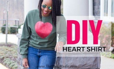 Valentine's Day Tutorial: DIY Heart Shirt | The Style Medic