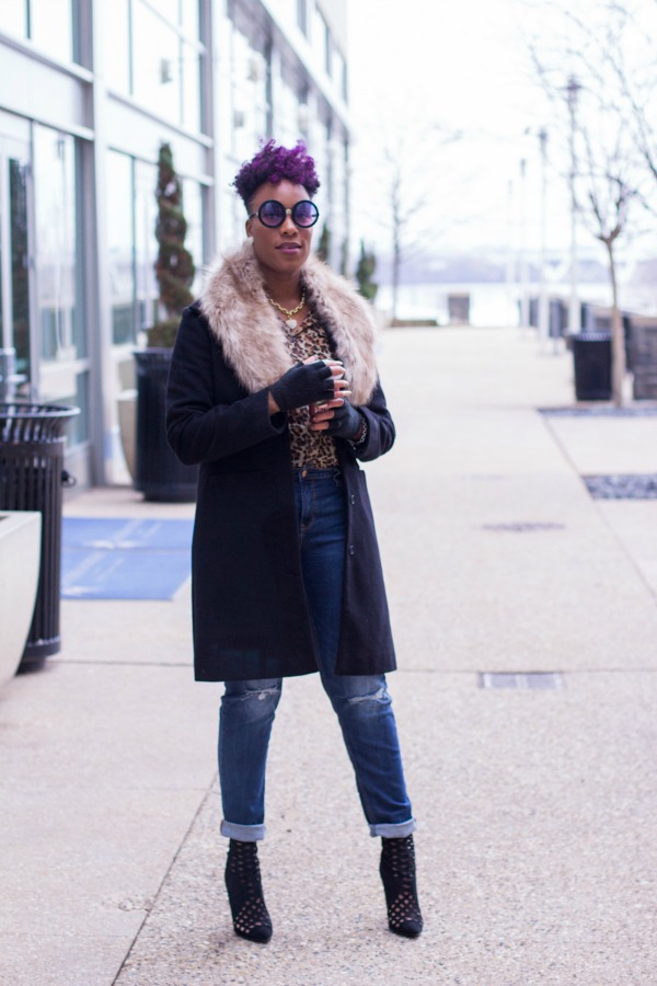 OOTD Faux Fur Leopard Print | The Style Medic