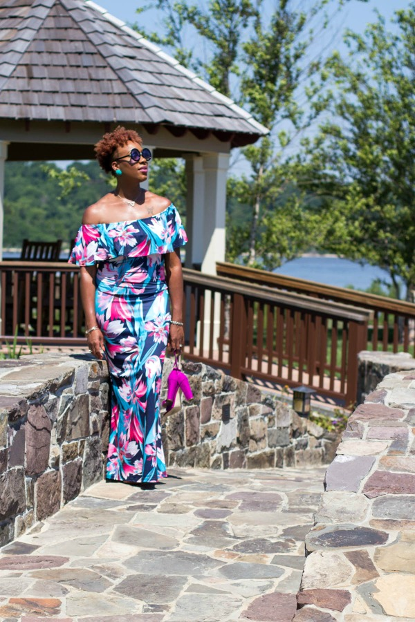 OOTD: Off-the-Shoulder Maxi Dress   The Style Medic