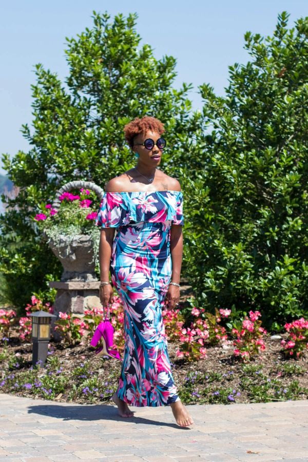 OOTD: Off-the-Shoulder Maxi Dress | The Style Medic