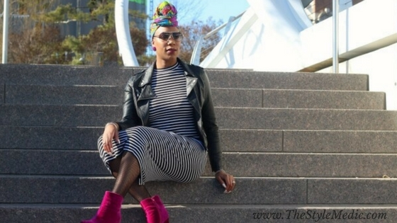 Bold Stripes, Bold Colors | Tracee Ellis Ross Bodycon Striped Dress | The Style Medic, DC Style Influencer