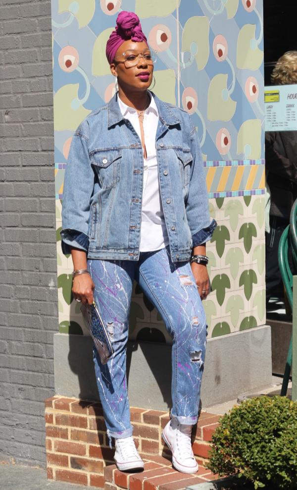 DIY Splatter Paint Jeans | The Style Medic